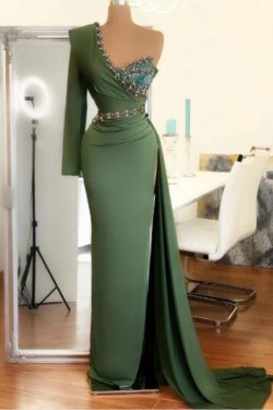 Elegante Abendkleid Grun | Abiballkleider Lang Gunstig | Babyonlinedress.de