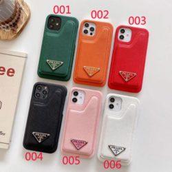 Prada アイフォン12Pro Max/12Proケース ブランド プラダ アイフォン12mini/12携帯カバー カード収納