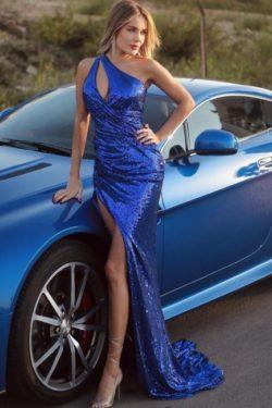 Abiballkleider Konig Blau | Abendkleider Lang Glitzer | Babyonlinedress.de