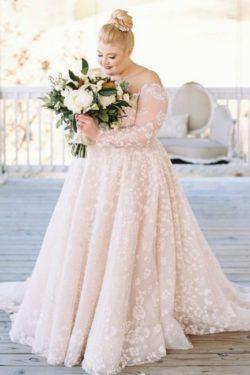 Brautkleider Grose Grose   ubergrose Hochzeitskleider mit armel   Babyonlinedress.de