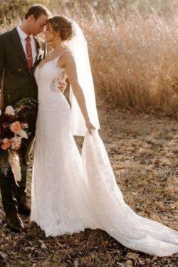Designer Hochzeitskleider Meerjungfrau | Brautkleider mit Spitze | Babyonlinedress.de