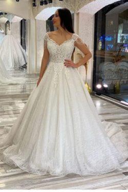 Elegante Brautkleider A Linie | Hochzeitskleider mit Spitze | Babyonlinedress.de