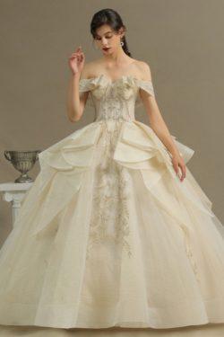Elegante Hochzeitskleider Prinzessin | Brautkleider mit Spitze | Babyonlinedress.de