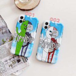 iphone12スマホカバー リップンディップ猫柄