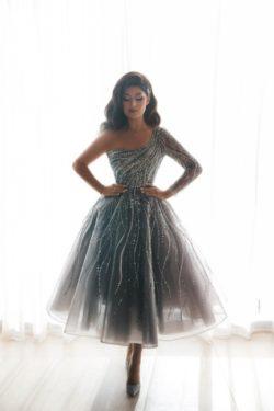 Luxus Abendkleider Kurz | Cocktailkleider Abiballkleider mit Glitzer | Babyonlinedress.de