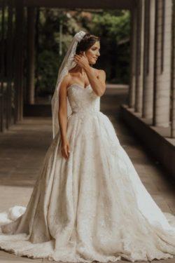 Luxus Brautkleid A Linie | Hochzeitskleider Spitze | Babyonlinedress.de