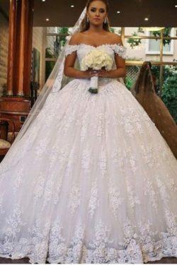 Luxus Brautkleider mit Spitze | Prinzessin Hochzeitskleider Gunstig | Babyonlinedress.de