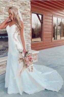 Schone Brautkleider Meerjungfrau | Hochzeitskleider mit Spitze | Babyonlinedress.de