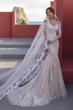 Designer Hochzeitskleider Spitze | Brautkleider Meerjungfrau Mit armel | Babyonlinedress.de