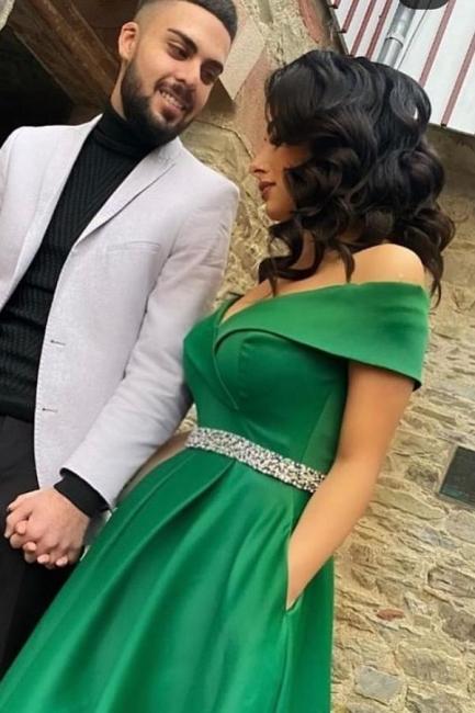 Elegante Abendkleider Grun | Abiballkleider Lang Gunstig | Babyonlinedress.de