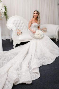 Luxus Brautkleider Meerjungfrau Spitze | Wunderschone Hochzeitskleider | Babyonlinedress.de