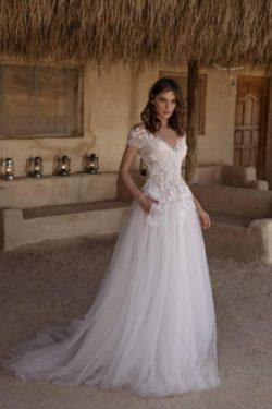 Schlichtes Hochzeitskleid A Linie | Brautkleider Gunstig Online Kaufen | Babyonlinedress.de