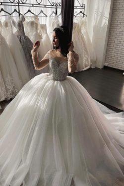 Schone Hochzeitskleider Prinzessin | Brautkleider Tull Gunstig | Babyonlinedress.de