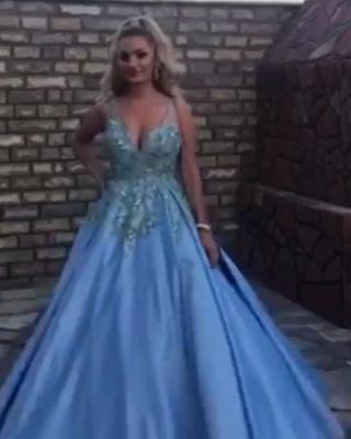 Abendkleider Lang Blau   Ballkleider Prinzessin   Babyonlinedress.de