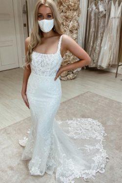 Designer Brautkleid Meerjungfrau Spitze | Hochzeitskleider Gunstig | Babyonlinedress.de
