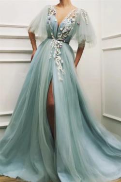 Elegante Abendkleider Lang Grun | Abiballkleider Gunstig | Babyonlinedress.de