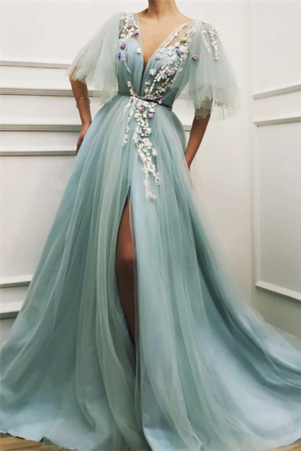 Elegante Abendkleider Lang Grun   Abiballkleider Gunstig   Babyonlinedress.de