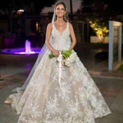 Elegante Brautkleider A Linie Spitze | Hochzeitskleider Online Kaufen | Babyonlinedress.de