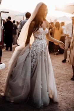Elegante Hochzeitskleider Boho | Brautkleider A Linie Spitze | Babyonlinedress.de