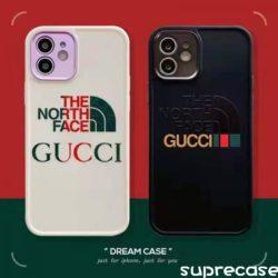 グッチ ノースフェイスコラボ iPhone12/12pro ケース GUCCI THE NORTH FACE iPhone12pro maxカバー