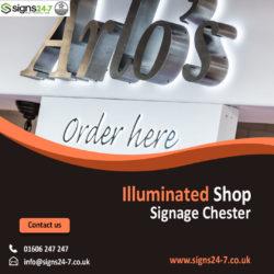 Illuminated Shop Signage Warrington