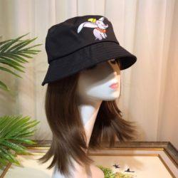 Loewe Dumbo Cotton Bukect Hat In Black