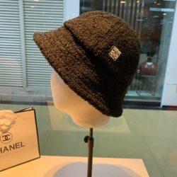 Loewe Lambskin Fisherman Hat In Black