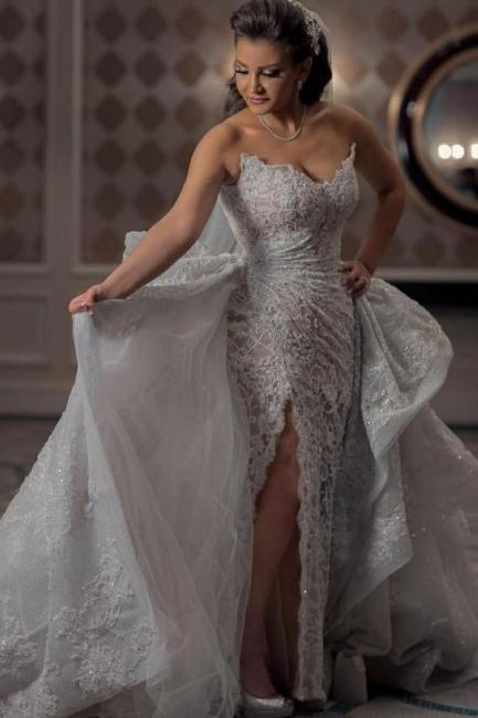 Luxus Brautkleider A Linie Spitze | Wunderschone Hochzeitskleider Online | Babyonlinedress.de