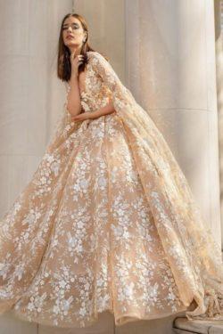 Schone Brautkleider Prinzessin | Spitze Hochzeitskleider mit armel | Babyonlinedress.de
