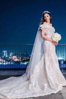 Schone Bruatkleider Meerjungfrau Spitze | Hochzeitskleider Gunstig Online | Babyonlinedress.de