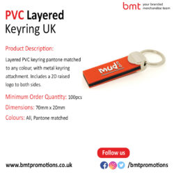 PVC Layered Keyring UK