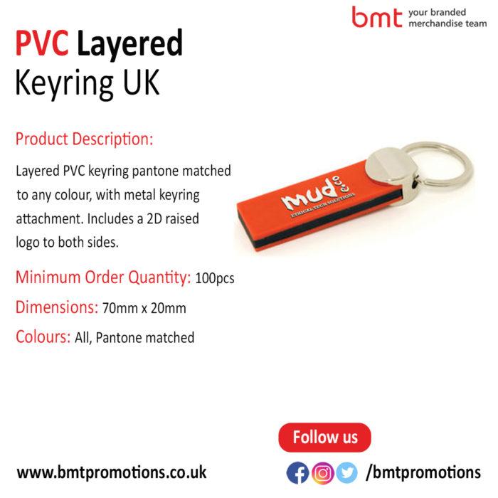 PVC Layered Keyring UK