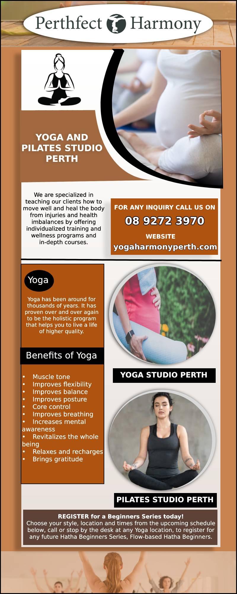 Yoga and Pilates studio Perth   Yoga Harmony Perth