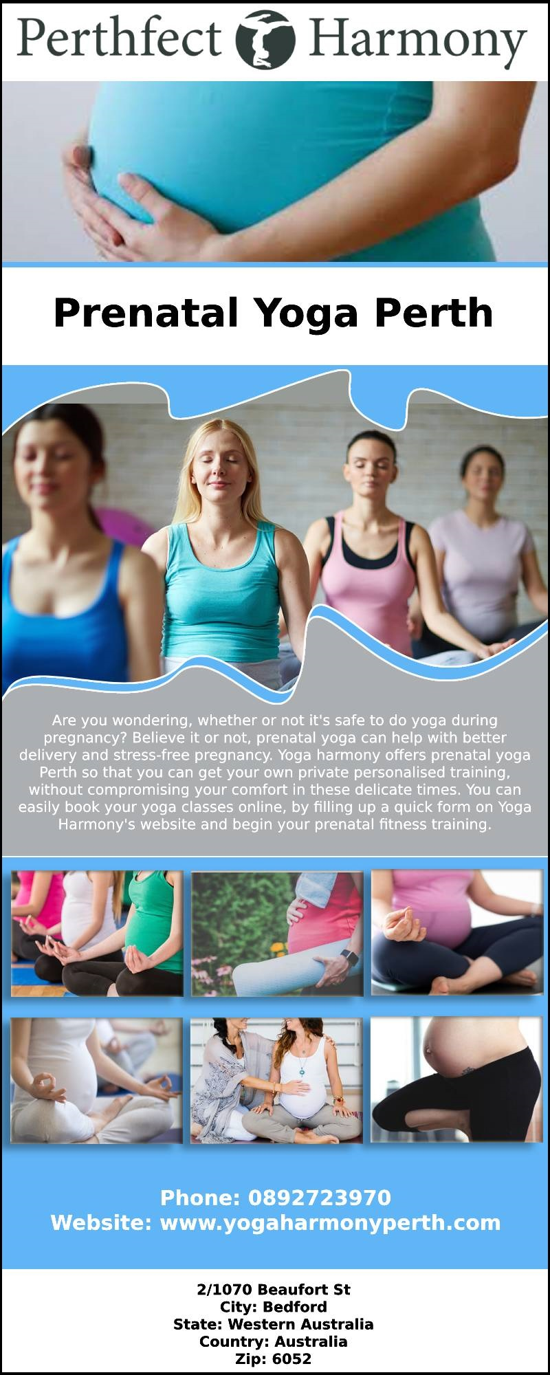 Prenatal Yoga for Relaxation to Join Yoga Harmony Perth