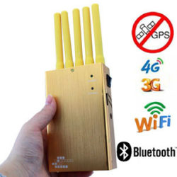 Handheld 5 Bands All GPS Jammer High Power