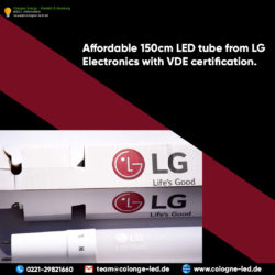 Affordable 150cm LED tube from LG Electronics with VDE certification.