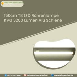150cm T8 LED Röhrenlampe KVG 3200 Lumen Alu Schiene
