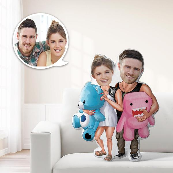 Romatic Gifts Custom MiniMe Pillow Personalized Couple Pillow Unique Photo Pillow Sweet Gifts