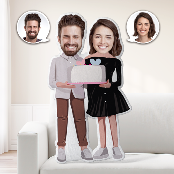 Anniversary Gifts Custom MiniMe Pillow Personalized Couple Pillow Unique Photo