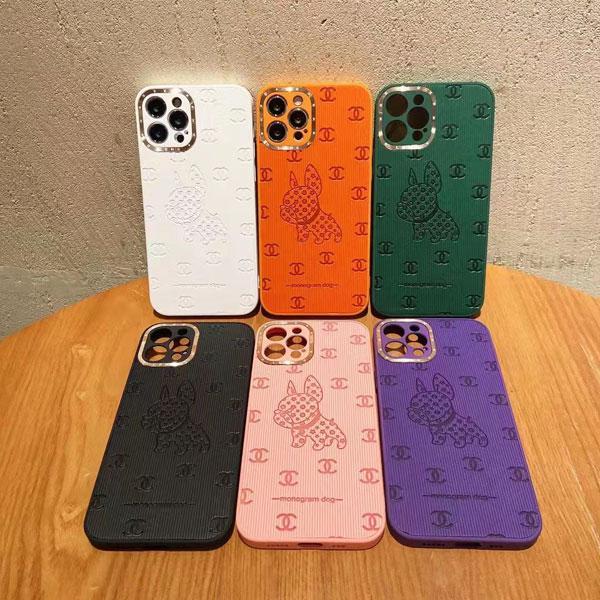 Chanel アイフォン13/13プロケース monogram dog 犬柄 シャネル iPhone12/13pro max保護カバー おしゃれ