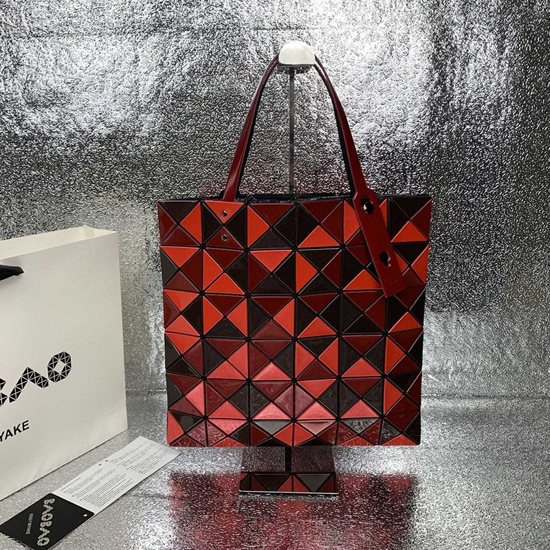 Bao Bao Issey Miyake Lucent Bi-color Tote Red