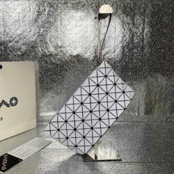 Bao Bao Issey Miyake Prism Wristlet Pouch White