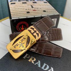 Prada 1BH141 Nappa Leather Spectrum Bag In Brown